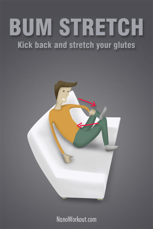 stretch your glutes in the sofa