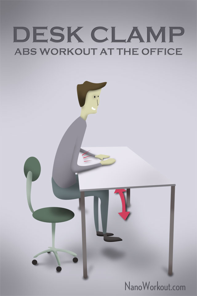 excercise abs at the office