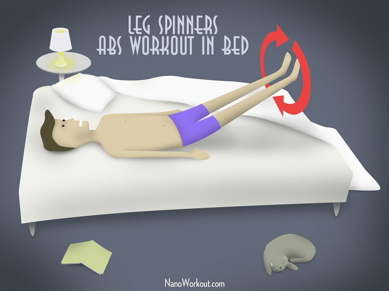 workout illustration in bed