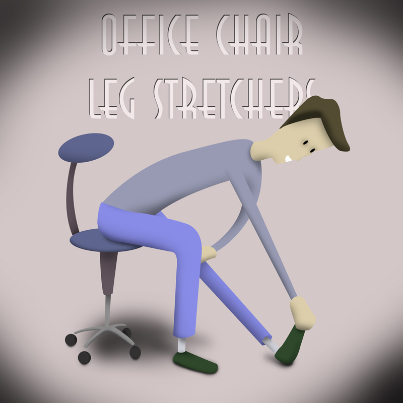 illustration how to stretch legs while sitting down