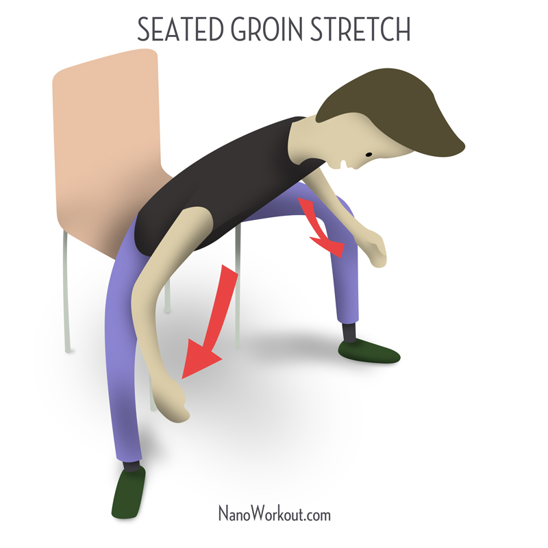 illustration how to stretch inner thighs and groin