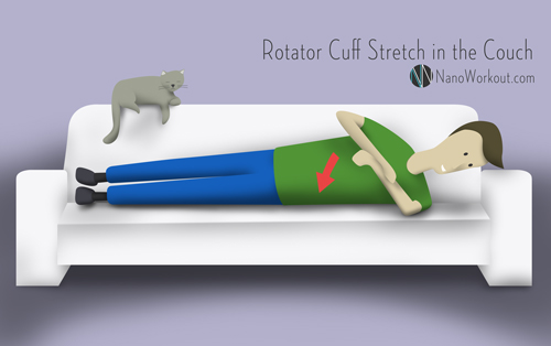 illustration of how to stretch rotator cuffs