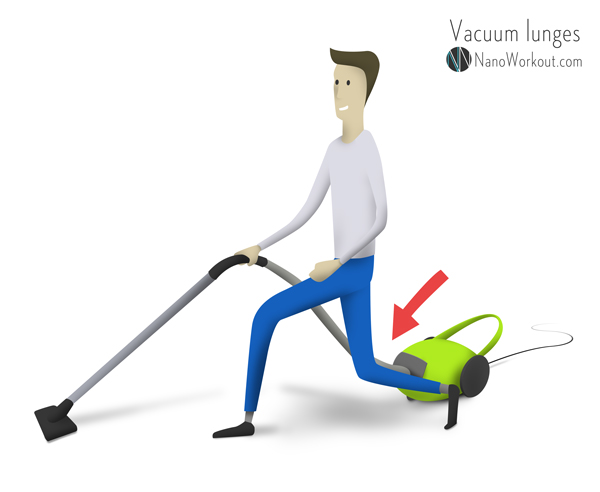 vacuum lunges exercise